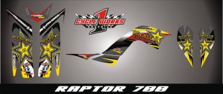 Yamaha Raptor 700 Custom Made Chester Graphics Kit Pegatinas Graficas Red