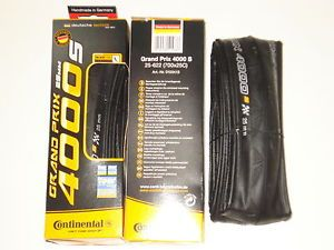 New Pair Continental Grand Prix 4000 s Folding Tires 700 x 23 Conti GP Tire Set