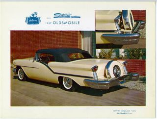 1957 Olsmobile Continental Spare Tire Kit Ad Flyer