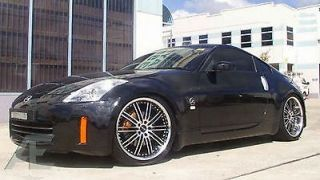 19 inch Nissan 350Z 370Z Altima Wheels Rims and Tires Hennessey Diamond Cut