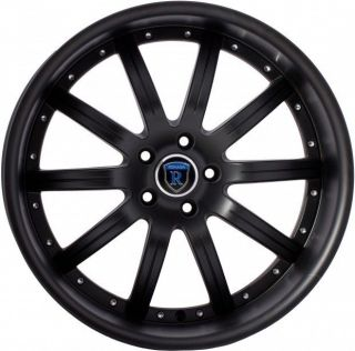 "20"" Rohana RL10 Staggered Wheels 5x114 3 Black Rim Fits Nissan 350Z"