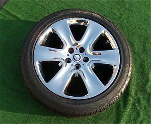 Genuine Factory Jaguar XF Chrome Wheels Excellent Original Continental Tires