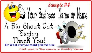 Personalized Custom Color Business Thank You Cards Buy 3 Get 1 Free