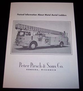 Pirsch Fire Apparatus Aluminum Aerial Ladders Brochure Engine Truck Peter 9
