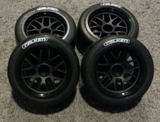 4 New HPI Sprint 2 Wheels Tires Set Porsche 911 Falken Tires 12mm