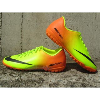Scarpe Nike Calcetto Mercurial Victory IV TF 555615 708 Uomo Neon Orange