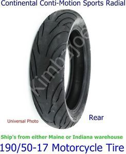 190 50 17 Continental Conti Motion Sport Radial Rear Motorcycle Tire