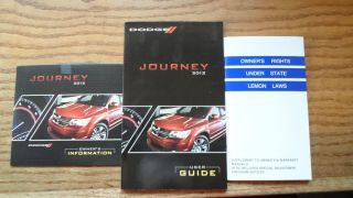 2012 Dodge Journey SE Owners Manual Great Condition