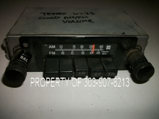 1981 1982 Toyota Landcruiser Land Cruiser FJ40 FJ 40 Am FM Factory Radio