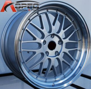19 Staggered LM Style Wheels 5x114 3 Hyper Silver Rims Fits Lexus SC430 350Z