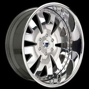 "22"" asanti 22 inch AF133 AF 133 Chrome Multi 2 Piece Wheels Rims Tires Package"