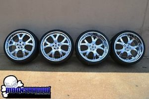 "22"" asanti AF143 Chrome Staggered Wheels Rims Mercedes Benz s Class S550 Nexen"