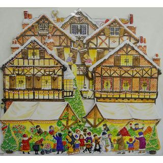 Christmas Market 3 D Pop Up Christmas Advent Calendar