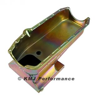 Chevy II SB Nova Drag Racing Oil Pan 283 350 SBC Zinc