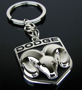 Dodge Logo Metal Keychain Key Ring Caravan Caliber Journey Viper RAM Jcuv Neon