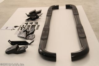 "Black 3"" Side Step Nerf Bars 09 2012 Dodge RAM 1500 Crew Cab 10 12 2500 3500"