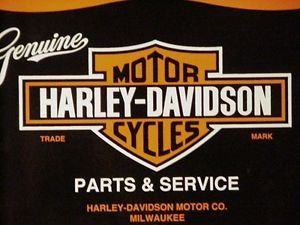 Harley Davidson Motorcycle Porcelain Parts Service Sign Oil Gas Can