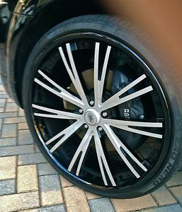 Set Perfect asanti CX 177 Range Rover 3 Piece Concave 24 inch Wheels Tires TPMS