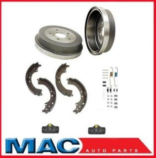 1994 1999 Dodge RAM 1500 2 Brake Drums Brake Shoes 2 Wheel Cyl Rear Combi Kit