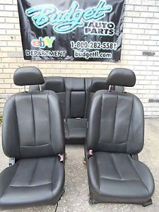 2002 03 2004 Nissan Altima Black Leather Seats Seat Set Bucket Seats w O Airbag