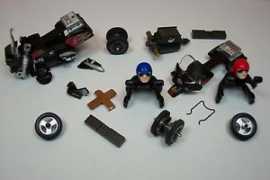 Tyco Mattel Harley Davidson Motorcycle Parts Lot for HO Scale Slotcar Motor Bike