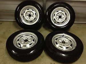 4 Honda Civic 4x100 13 Steel Wheels Rims Wintermaster 175 70R13 Snow Tires Studs