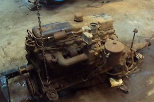 1955 1959 Chevy Truck 235 6CLY Engine Motor and 3 Speed Transmission