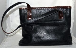 Coach Large Black Leather Shoulder Bag