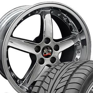 "18"" 9 10 Chrome Cobra Wheels Nitto Tires Rims Fit Mustang® GT 05 Up"