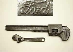 "A Old Ford Script Barcalo Buffalo Adjustable Wrench Model T Tool Kit 4"" Wrench"