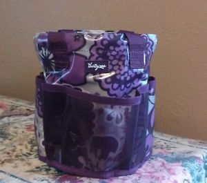 Thirty One Round About Caddy Cosmetic Utility Tote Bag Plum Awesome