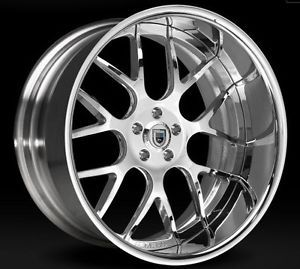 "22"" inch asanti AF 174 BMW 750 745 645 650 Chrome Staggered Wheels with Tires"