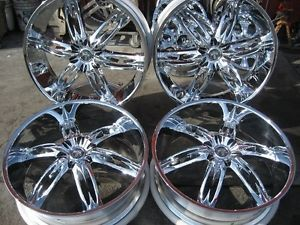 "26"" Dub Nasty 6 Chrome Wheels Rims and Tires Package Gianna Lexani asanti MHT"