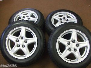 4 GM 5 Spoke Alloy Wheels 20 Lug Nuts 4 Blizzak Snow Tires 215 60R16