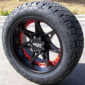 "20"" Black MO961 Wheels Nitto Terra Grappler Tires Chevy Silverado 1500 Sierra"