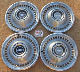 "1971 1972 Chevy Monte Carlo Impala 15"" Wheel Covers Hubcaps Set of 4 Look"