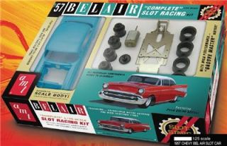 AMT Slot Stars 1 25 Scale 1957 Chevy Bel Air Complete Slot Car Kit Item 746