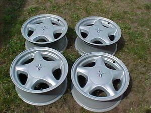 1990 1991 1992 Ford Mustang GT Pony Rims 4 Lug Aftermarket Includes Centers Nice