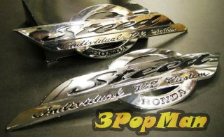 ★ Chrome Silver Gas Tank Decal Badge Emblem for Honda Steed Motorcycle Series ★