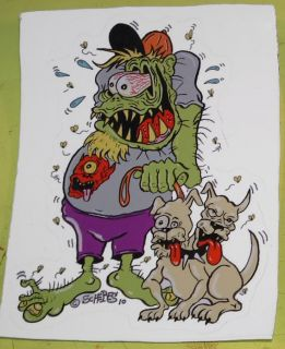 Weird Oh Dog Decal Monster Low Brow Hot Rod Rat Street Vtg Style Fink Gasser