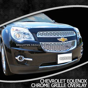 "2012 2013 Chevy Equinox Brand New Chrome Grille Overlay ""Factory Style"""
