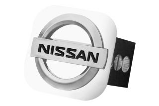 Nissan Trailer Hitch Chrome Hitch Cover Plug Insert with Nissan Logo by AG
