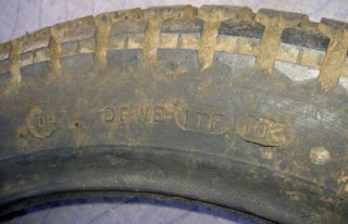 Dunlop Universal Before K70 3 00 16 Tire Used on Vintage Drag Race Cars