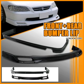 98 02 Honda Accord Sedan Front Rear Bumper Lip Spoiler