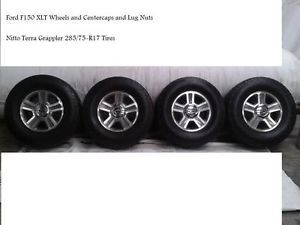 Ford F150 XLT Wheels Rims Nitto Terra Grappler Tires 285 75 R17 Complete Set