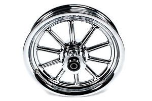Harley Davidson 10 Spoke Chrome 16 inch Front Wheel Heritage Fatboy New