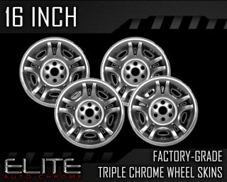 "1997 2000 Dodge Durango 16"" Chrome Wheel Skins"