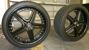 Lorenzo WL19 Black Wheel Rims and Nitto Tires 20 inch 5x4 5 114 3 Set