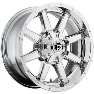 18x9 Chrome Fuel Maverick 8x6 5 1 Wheels Nitto Terra Grappler 285 65 18 Tires