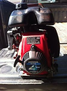 Honda WX15 4 Stroke Water Pump Engine Runs Good Pump Needs Work